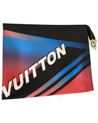 Louis Vuitton - Red Pre-owned Leather Clutch Bag - Lyst