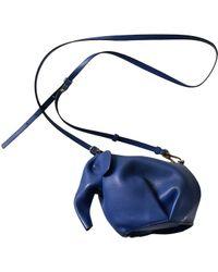 Loewe Pre-owned Animals Blue Leather Handbags