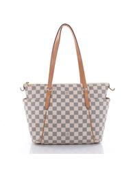 a452ce371f8e Lyst - Louis Vuitton White Leather Handbag in White