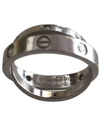 Cartier - Love White Gold Ring - Lyst