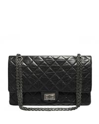 e34672231350 Lyst - Chanel 2.55 Leather Crossbody Bag in Black