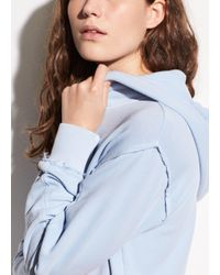Vince - Multicolor Raw Edge French Terry Hoodie - Lyst