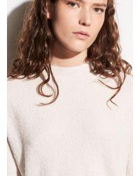 Vince - White Wool Bouclé Pullover - Lyst