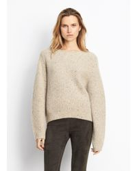 Vince - Natural Cashmere Cropped Saddle Pullover - Lyst
