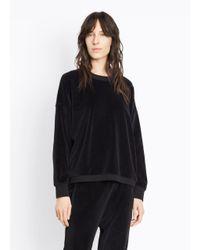 Vince | Black Velour Pullover | Lyst