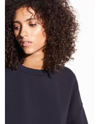 Vince - Blue Pullover Cotton Sweatshirt - Lyst