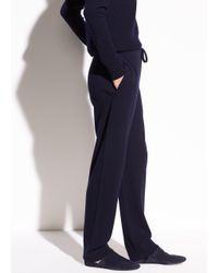 Vince - Blue Slouch Wool And Cashmere Jogger - Lyst