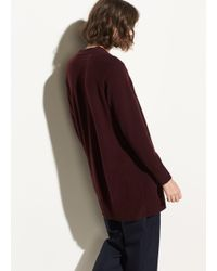Vince - Red Raglan Sleeve Cashmere Cardigan - Lyst