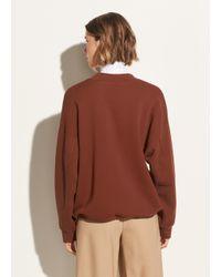 Vince - Brown Long Sleeve Mock Neck Pullover - Lyst
