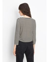 Vince | Black Midi Striped Cropped Tee | Lyst