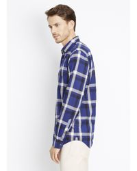 Vince - Blue Melrose Graphic Plaid Button Up for Men - Lyst