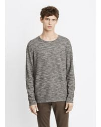 Vince | Gray Melange Knit Crewneck Sweater for Men | Lyst