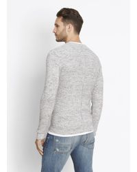 Vince - Gray Modern Military Thermal Long Sleeve Crew for Men - Lyst