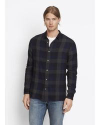 VINCE | Blue Buffalo Check Button Up for Men | Lyst