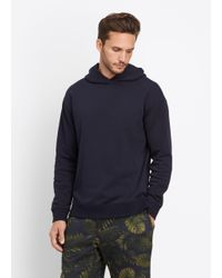 VINCE   Blue Side Zip Pullover Hoodie for Men   Lyst