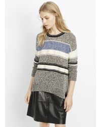Vince | Gray Stripe Boat Neck Sweater | Lyst