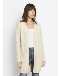 VINCE | White Honeycomb Cardigan | Lyst