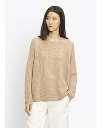VINCE   Natural Waffle Stitch Pullover Crew   Lyst