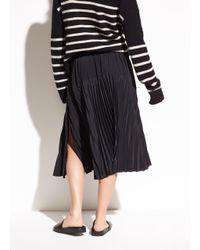 Vince - Black Pleated Italian Crepe De Chine Skirt - Lyst