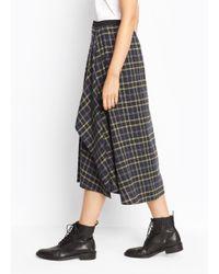 Vince - Multicolor Plaid Tie Front Skirt - Lyst