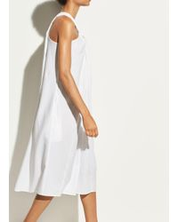 Vince - White Twist Front Halter Dress - Lyst