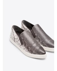 Vince - Metallic Paeyre Lizard Print Leather Sneaker - Lyst