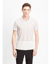 Vince - White Blocked Striped Polo for Men - Lyst