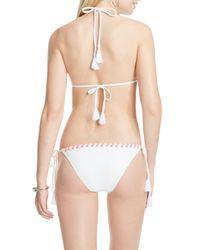 Vince Camuto - White Laced Bikini Top - Lyst