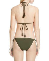Vince Camuto | Green Studded Halter Bikini Top | Lyst