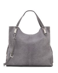 Vince Camuto | Gray Riley – Snake-embossed Tote4 | Lyst