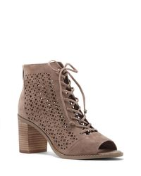 Vince Camuto | Multicolor Trevan – Perforated Block-heel Bootie | Lyst