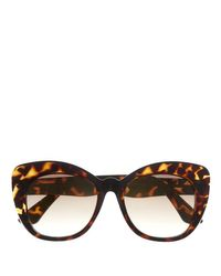 Vince Camuto - Brown Oversize Cat-eye Sunglasses - Lyst
