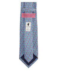 Vineyard Vines - Blue Fall Leaves Silk Tie for Men - Lyst