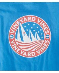 Vineyard Vines Blue Regatta Crest Pocket T-shirt for men