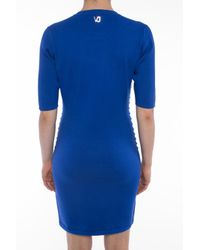 Versace Jeans - Blue Fitted Dress - Lyst