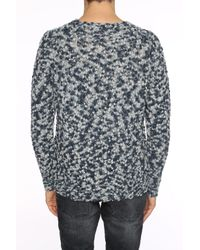 Etro - Gray Braided Sweater for Men - Lyst