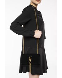 Saint Laurent - Black 'kate' Shoulder Bag - Lyst