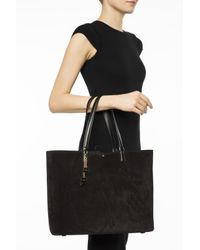 Ferragamo - Black Shopper Bag With Charms - Lyst
