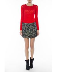 Étoile Isabel Marant - Blue Patterned Quilted Skirt - Lyst