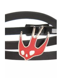 McQ Alexander McQueen - Black Leather Bracelet - Lyst