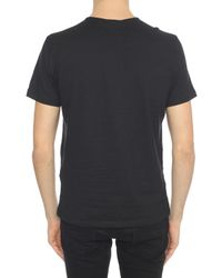 John Varvatos - Black Crewneck T-shirt for Men - Lyst
