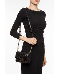 Michael Kors - Black 'sloan' Quilted Shoulder Bag - Lyst