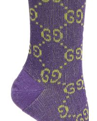 Gucci - Purple Lurex Socks - Lyst