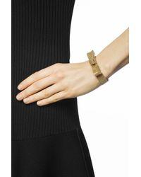 Lanvin - Metallic Bracelet With Bow - Lyst