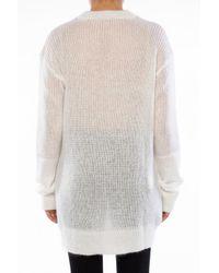 McQ Alexander McQueen - White Mohair Sweater - Lyst