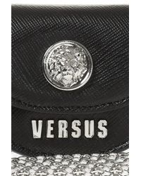 Versace - Black Bag Charm Necklace - Lyst