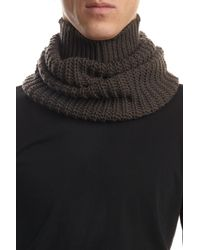 Rick Owens - Gray Wool Tube Scarf for Men - Lyst