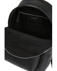 Balenciaga - Everyday Backpack Leather Black - Lyst