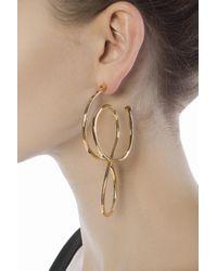 Balenciaga - Metallic Brass Earrings - Lyst