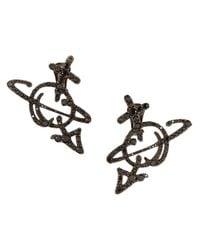 Vivienne Westwood | Metallic Unisex Orb Earrings Ruthenium | Lyst